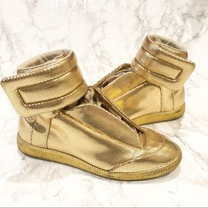 """Maison Margiela Gold Dot-stamped """"future"""" High-top"""